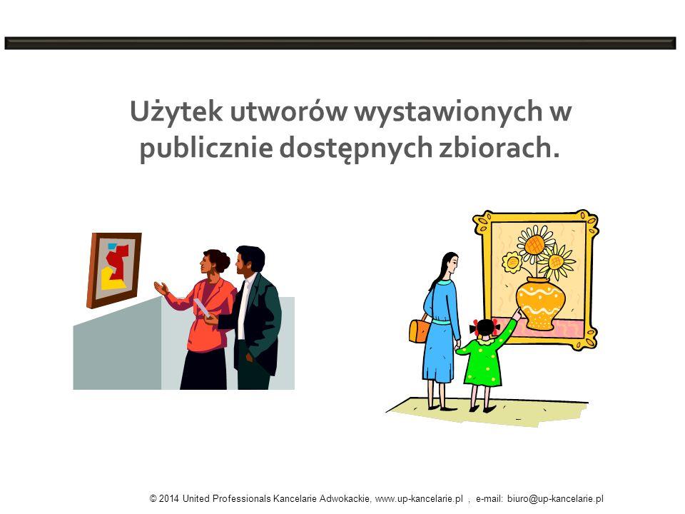 Użytek utworów wystawionych w publicznie dostępnych zbiorach.