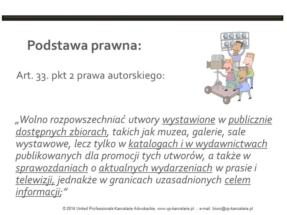Podstawa prawna: Art. 33. pkt 2 prawa autorskiego: