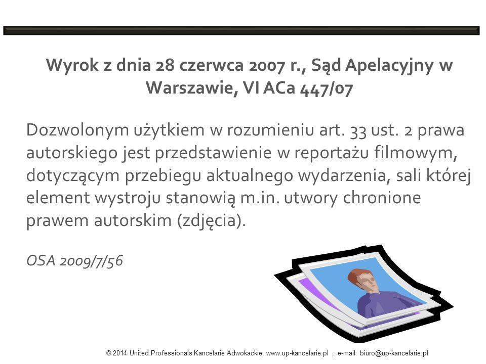 Wyrok z dnia 28 czerwca 2007 r., Sąd Apelacyjny w Warszawie, VI ACa 447/07