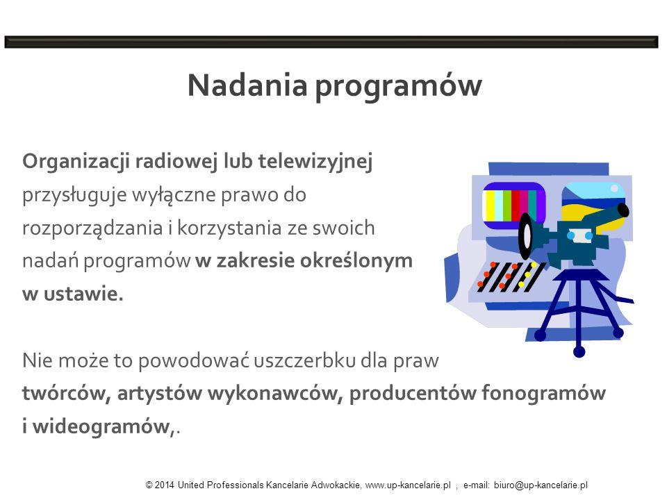 Nadania programów Organizacji radiowej lub telewizyjnej