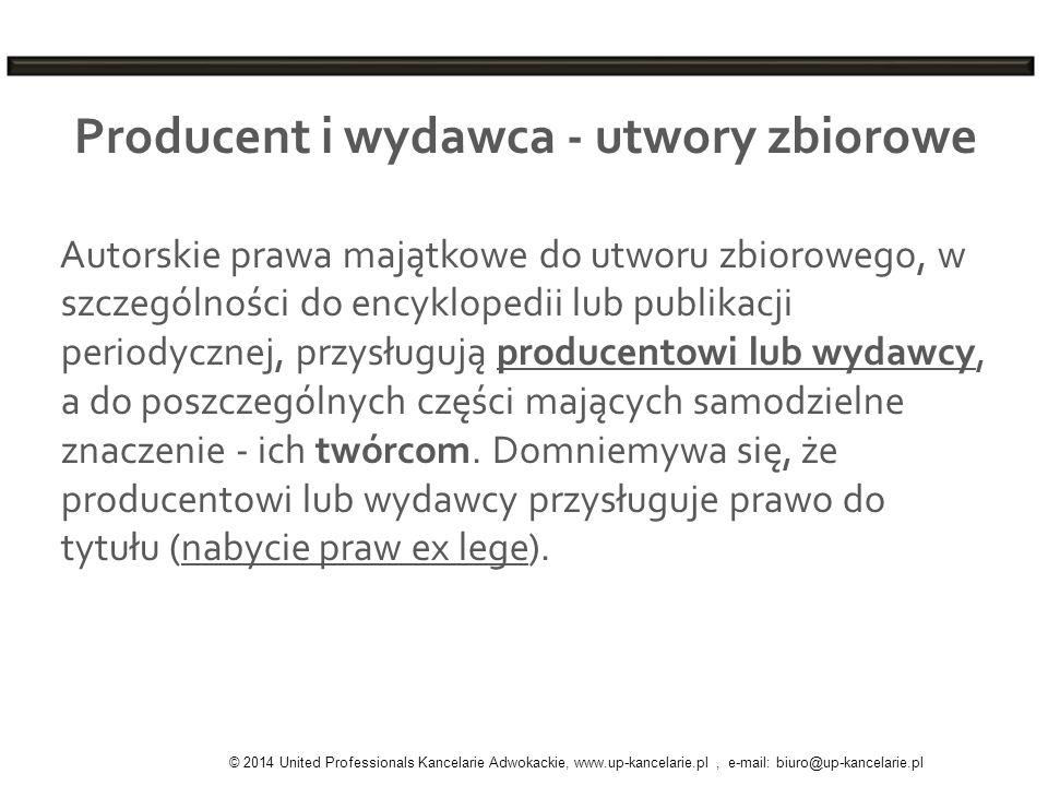 Producent i wydawca - utwory zbiorowe