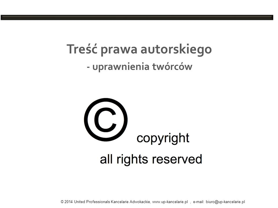 Treść prawa autorskiego