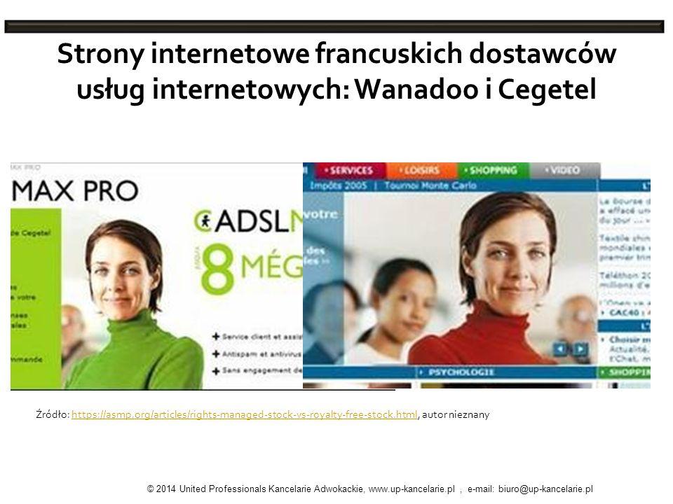Strony internetowe francuskich dostawców usług internetowych: Wanadoo i Cegetel