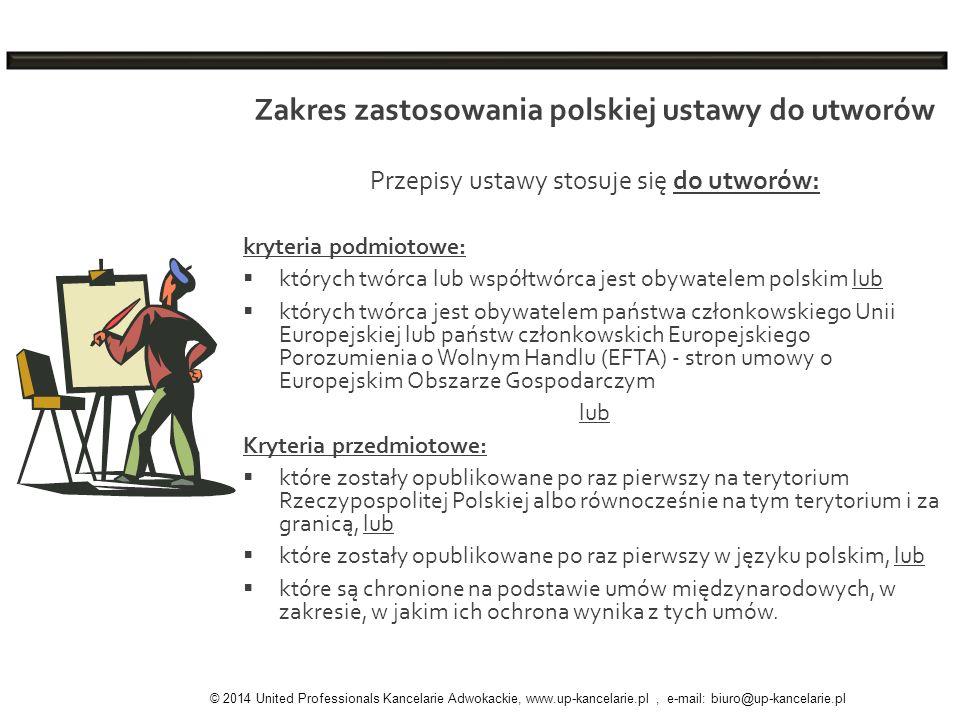 Zakres zastosowania polskiej ustawy do utworów