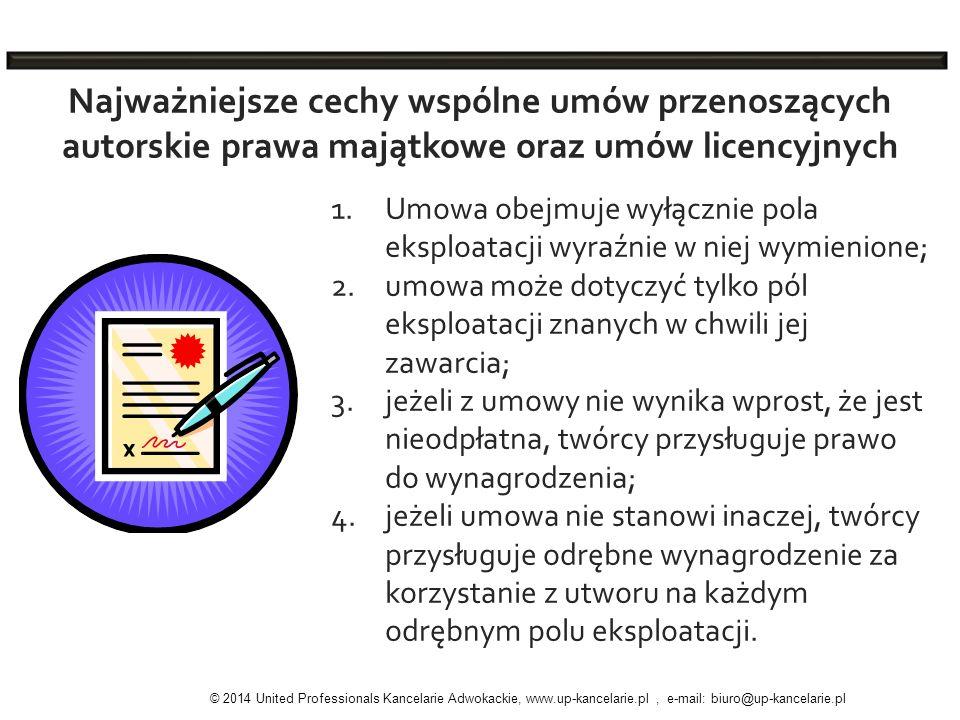 Najważniejsze cechy wspólne umów przenoszących autorskie prawa majątkowe oraz umów licencyjnych