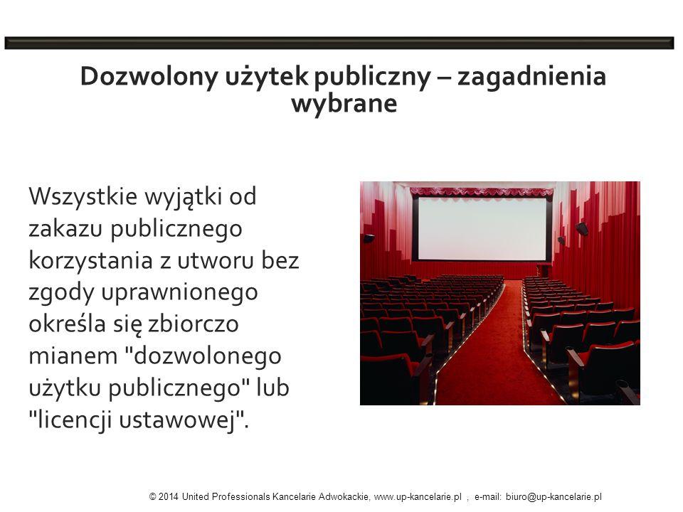 Dozwolony użytek publiczny – zagadnienia wybrane
