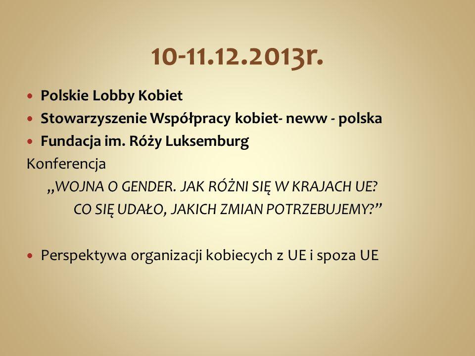 10-11.12.2013r. Polskie Lobby Kobiet