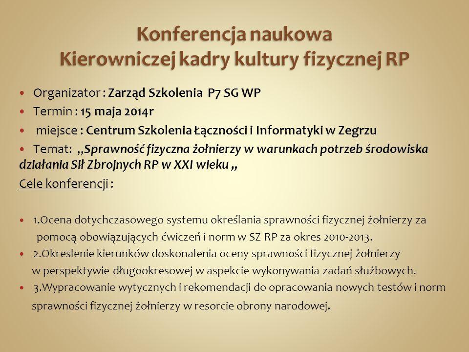 Konferencja naukowa Kierowniczej kadry kultury fizycznej RP