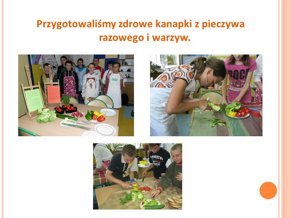 Przygotowaliśmy zdrowe kanapki z pieczywa razowego i warzyw.