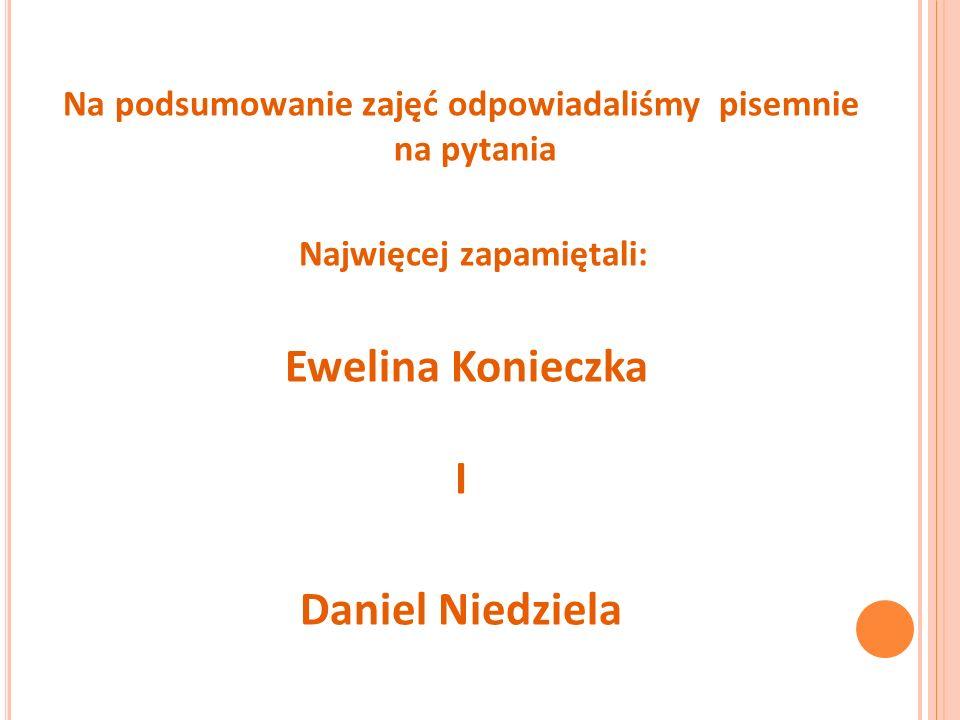 Ewelina Konieczka I Daniel Niedziela