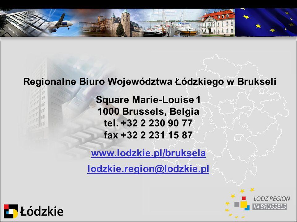 Regionalne Biuro Województwa Łódzkiego w Brukseli