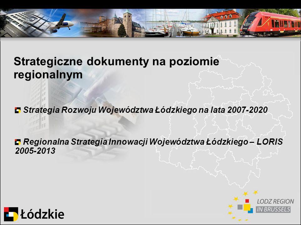 Strategiczne dokumenty na poziomie regionalnym
