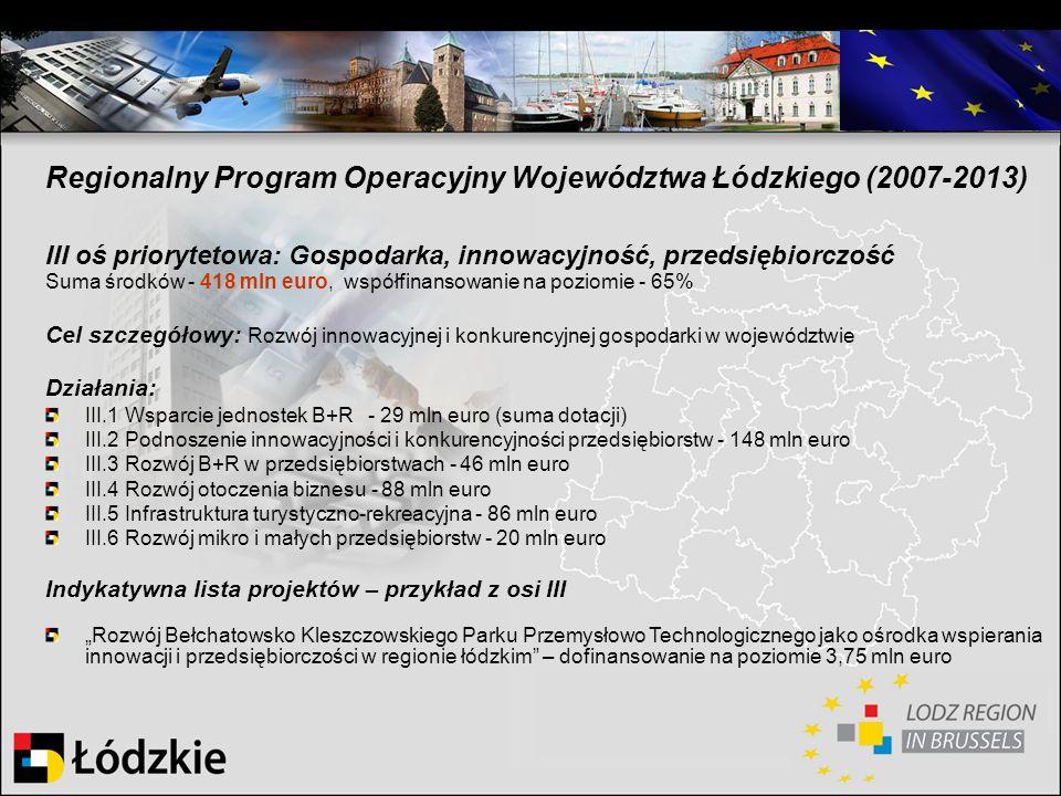 Regionalny Program Operacyjny Województwa Łódzkiego (2007-2013)