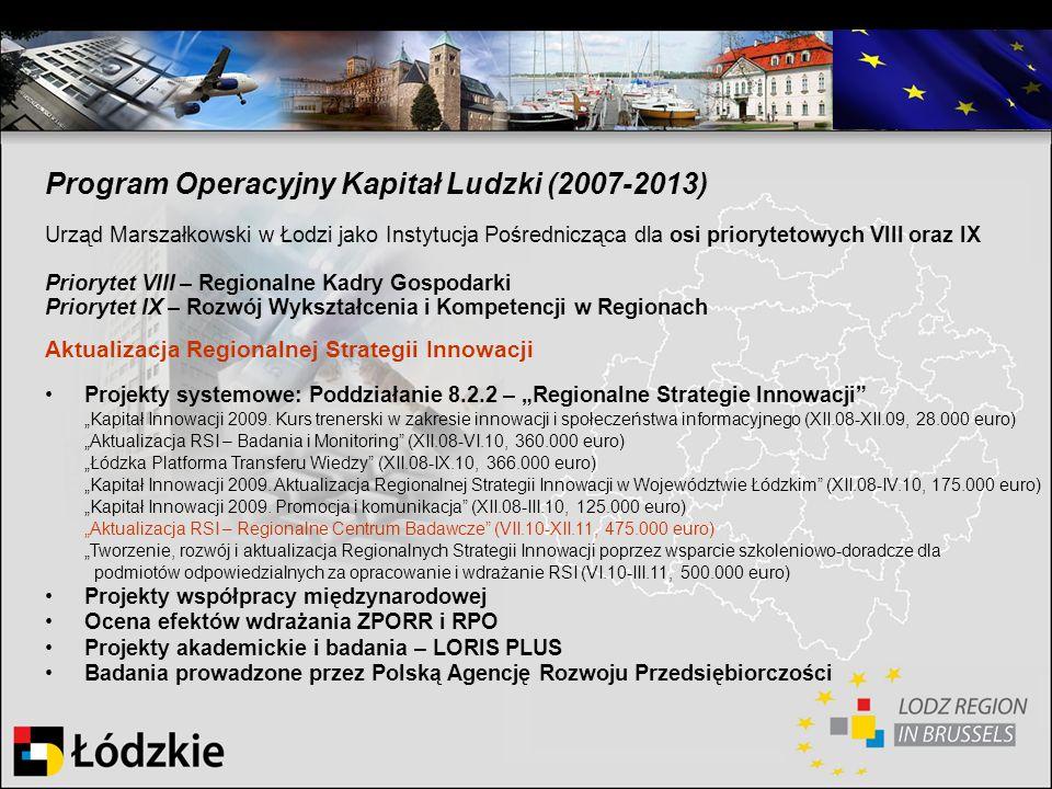 Program Operacyjny Kapitał Ludzki (2007-2013)