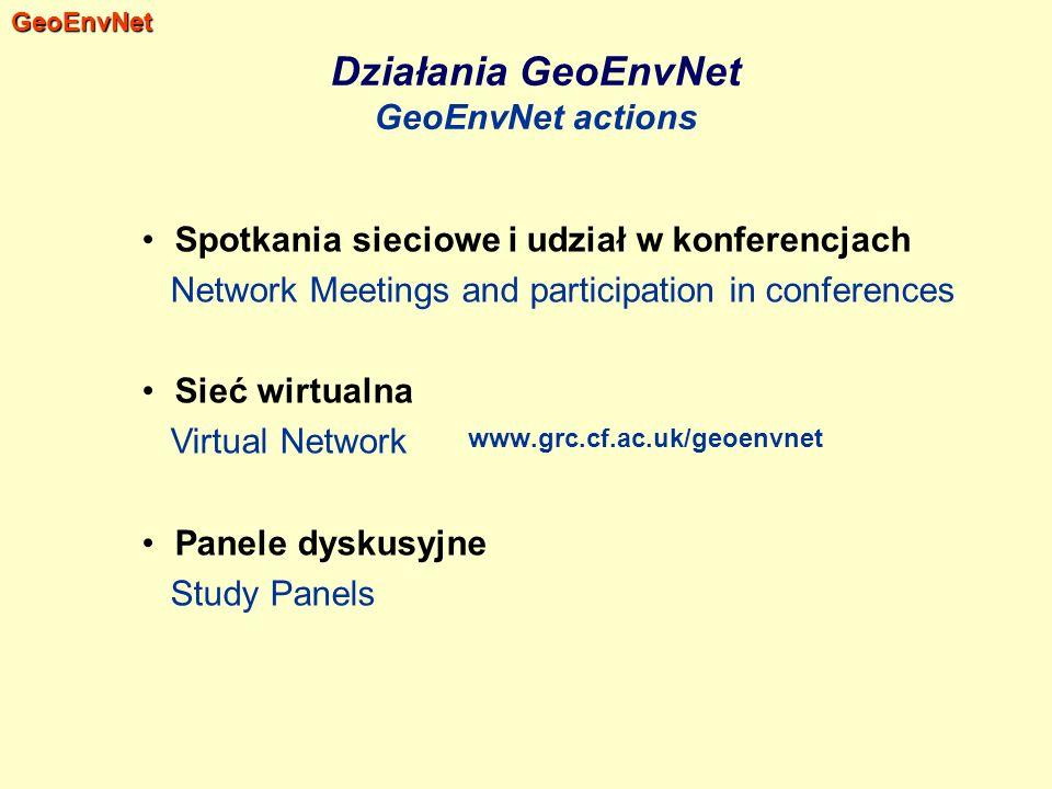 Działania GeoEnvNet GeoEnvNet actions