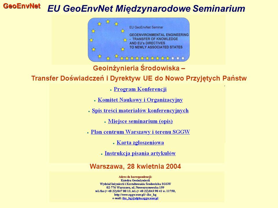 EU GeoEnvNet Międzynarodowe Seminarium