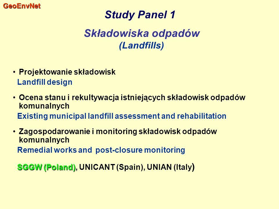 Study Panel 1 Składowiska odpadów