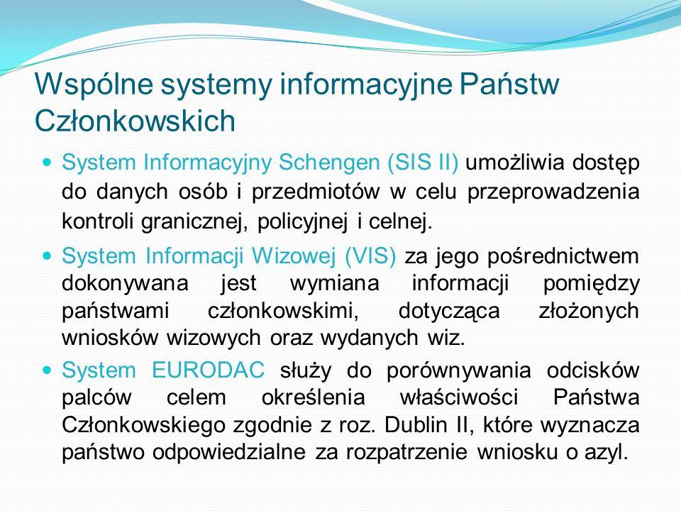 Wspólne systemy informacyjne Państw Członkowskich