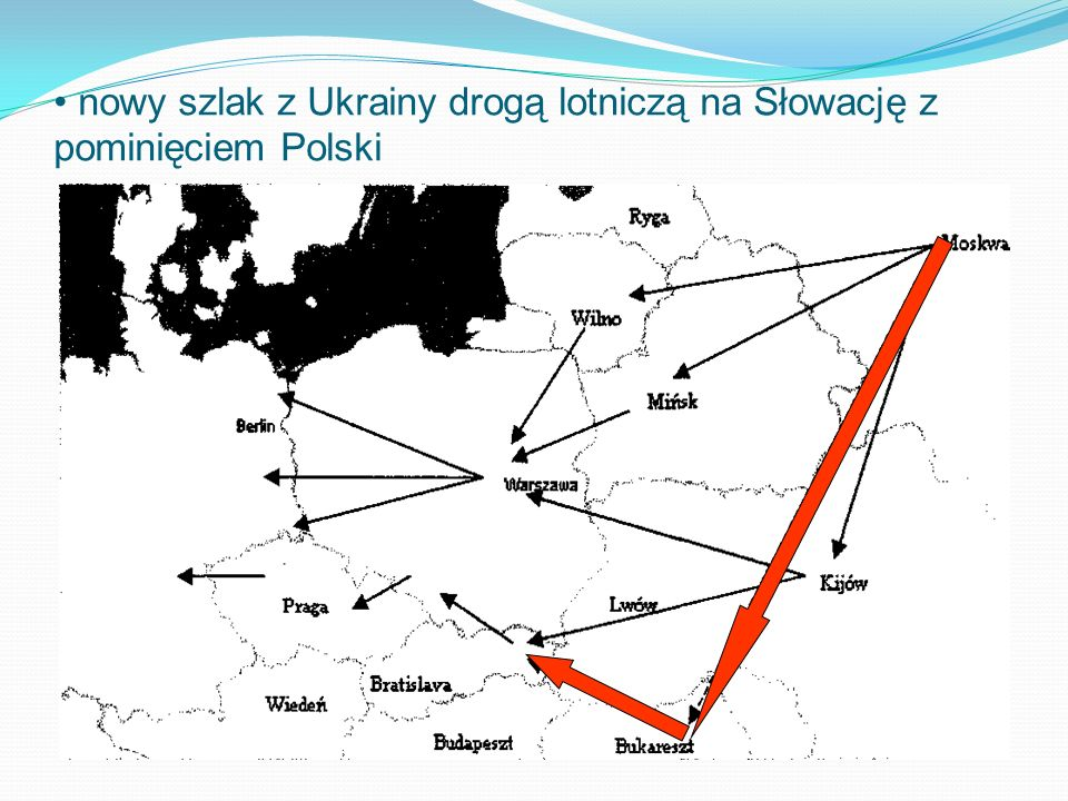 nowy szlak z Ukrainy drogą lotniczą na Słowację z pominięciem Polski
