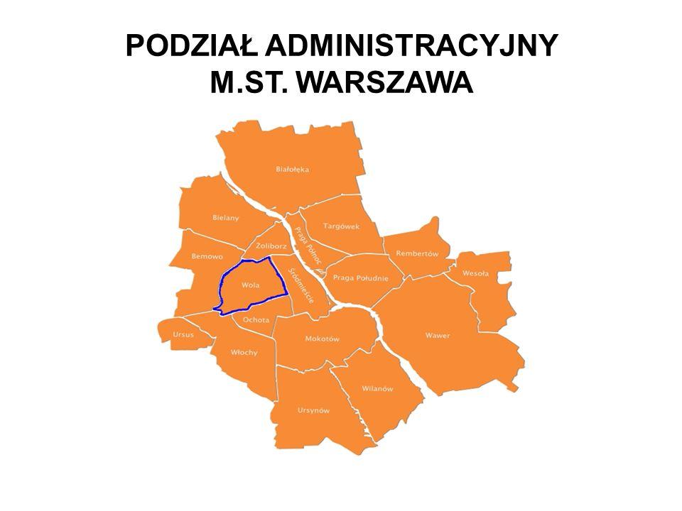PODZIAŁ ADMINISTRACYJNY M.ST. WARSZAWA