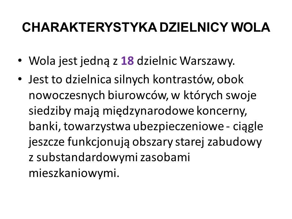 CHARAKTERYSTYKA DZIELNICY WOLA