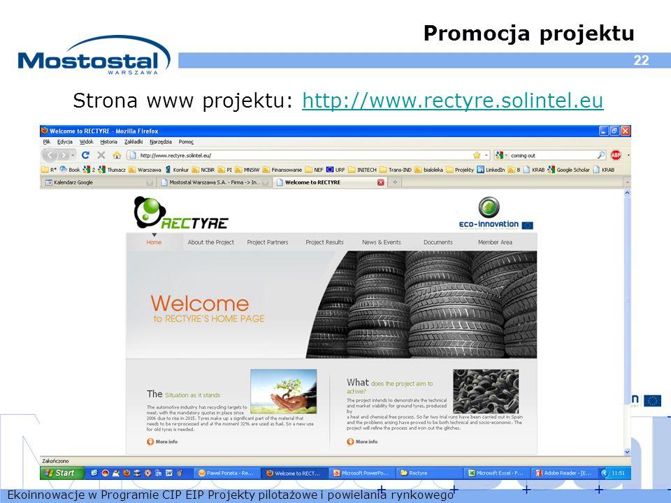 Strona www projektu: http://www.rectyre.solintel.eu