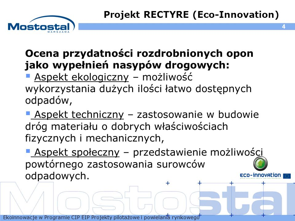Projekt RECTYRE (Eco-Innovation)
