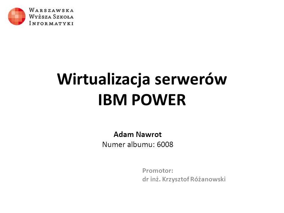 Wirtualizacja serwerów IBM POWER