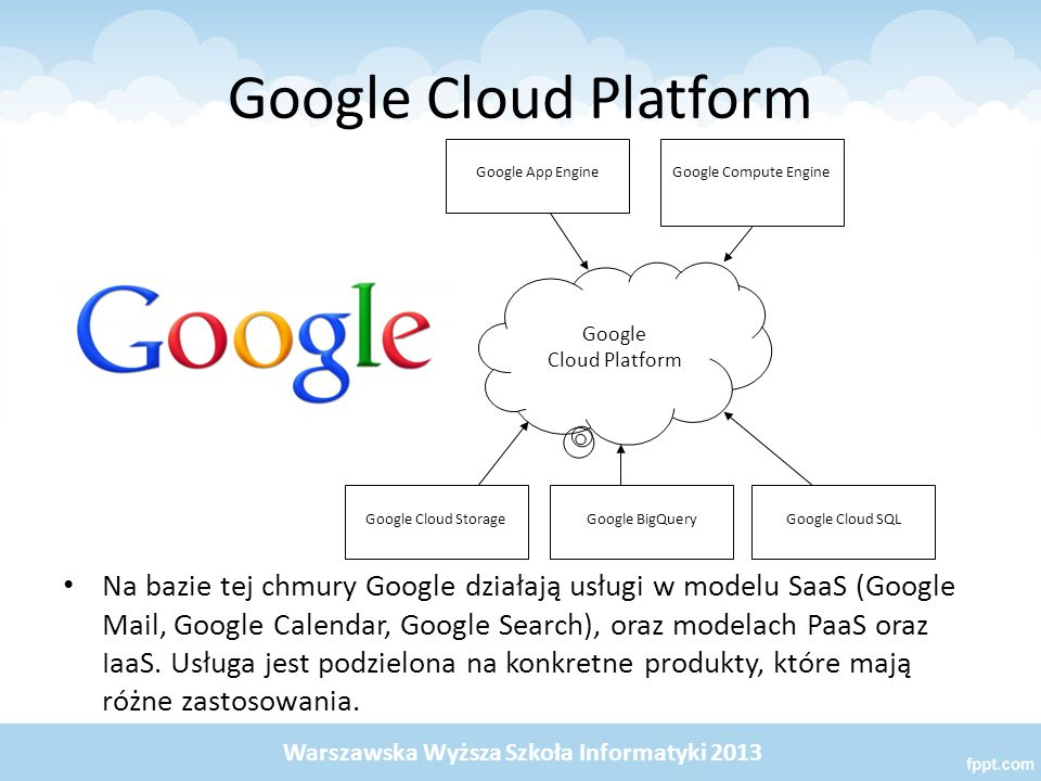 Google Cloud Platform Google Cloud Platform. Google App Engine. Google Compute Engine. Google Cloud Storage.