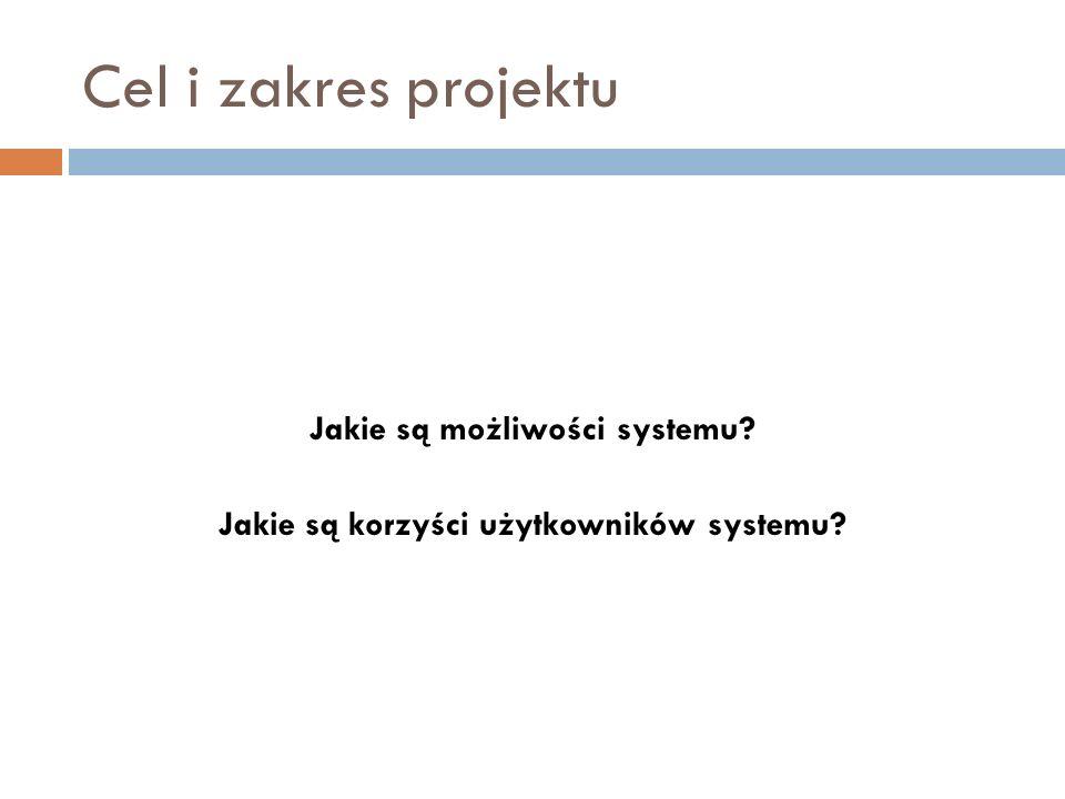 Jakie są możliwości systemu Jakie są korzyści użytkowników systemu