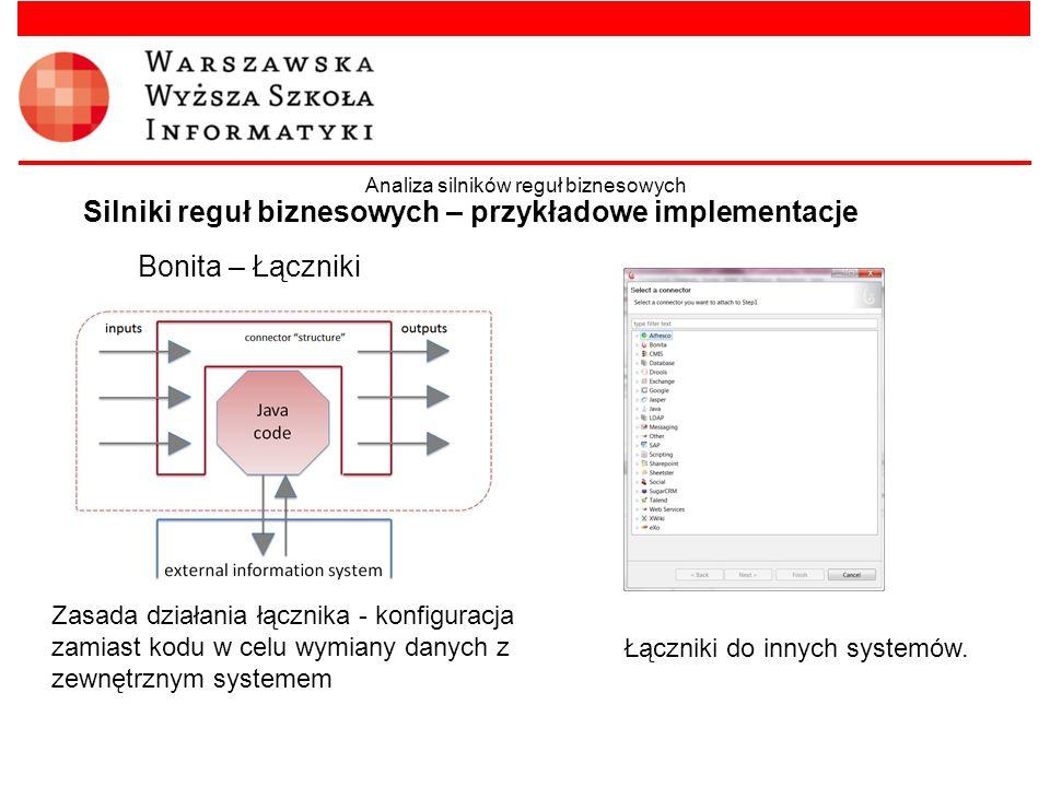 Silniki reguł biznesowych – przykładowe implementacje