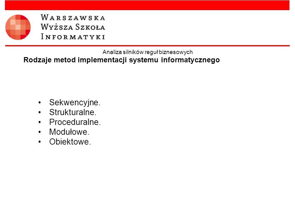 Rodzaje metod implementacji systemu informatycznego
