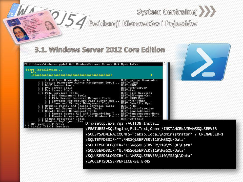 3.1. Windows Server 2012 Core Edition