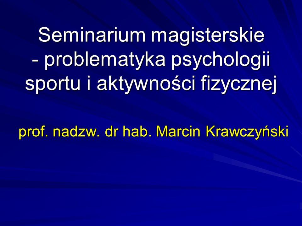 prof. nadzw. dr hab. Marcin Krawczyński