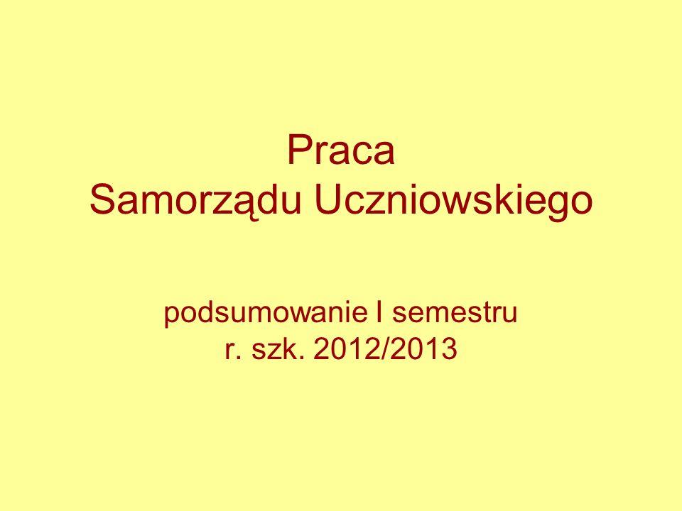Praca Samorządu Uczniowskiego