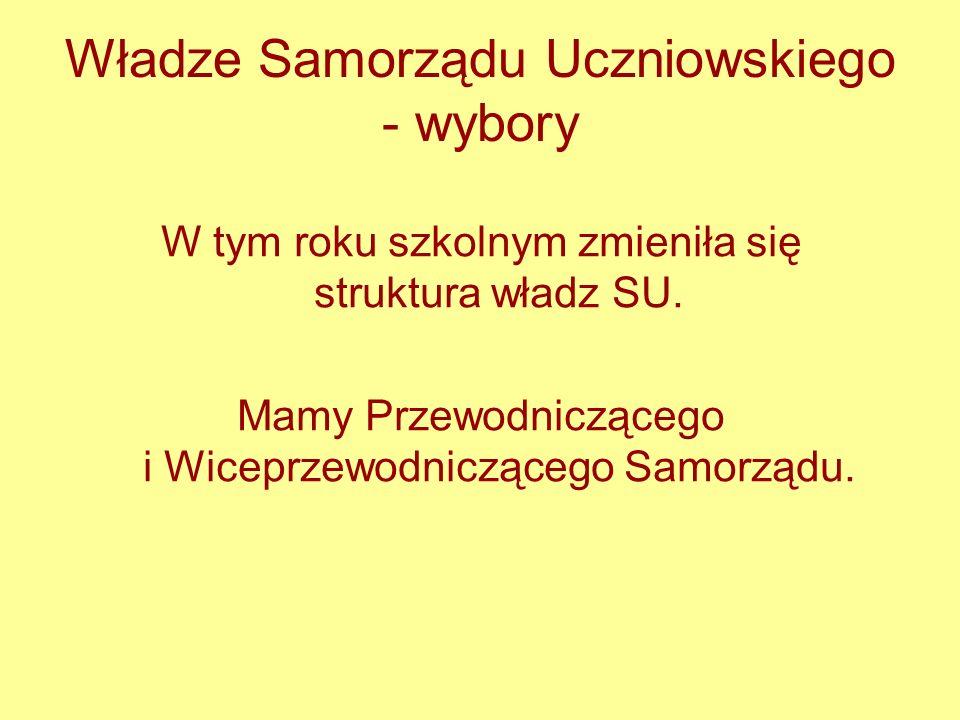 Władze Samorządu Uczniowskiego - wybory