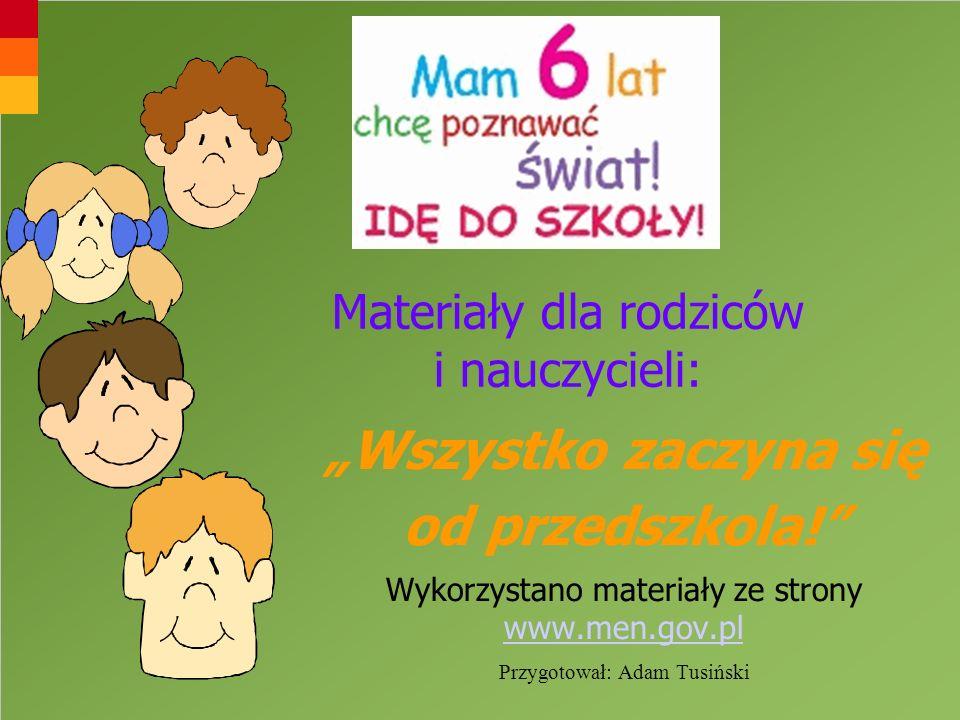 Materiały dla rodziców i nauczycieli: