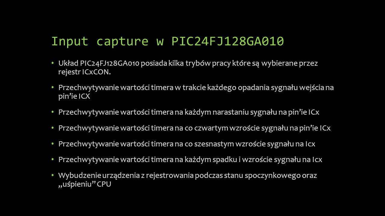 Input capture w PIC24FJ128GA010