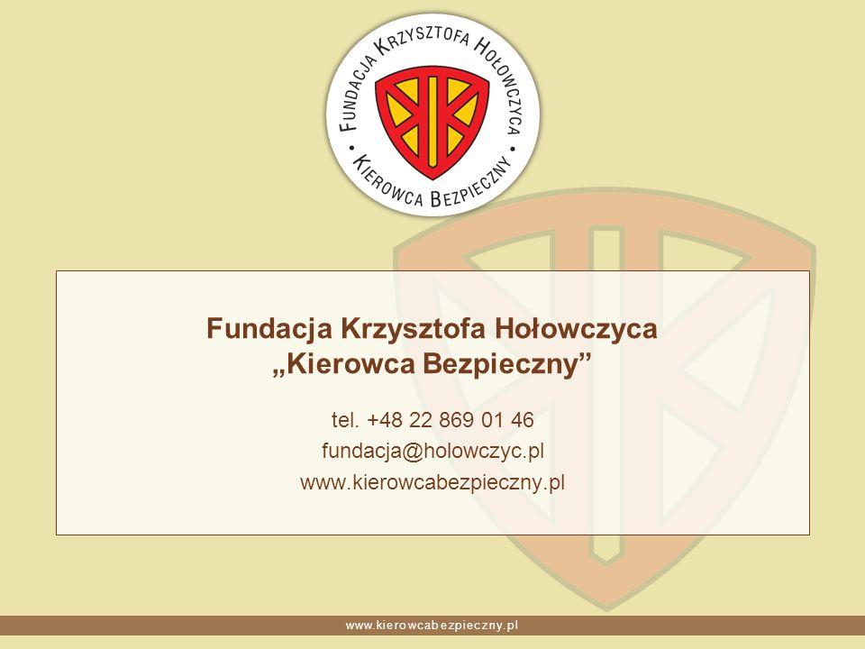 """Fundacja Krzysztofa Hołowczyca """"Kierowca Bezpieczny"""
