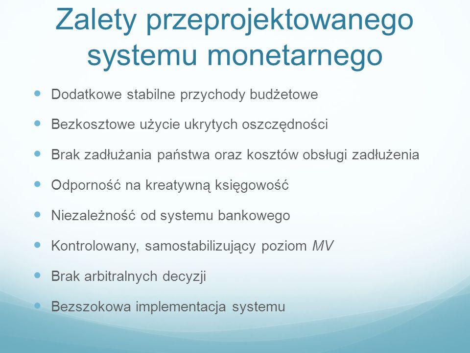 Zalety przeprojektowanego systemu monetarnego