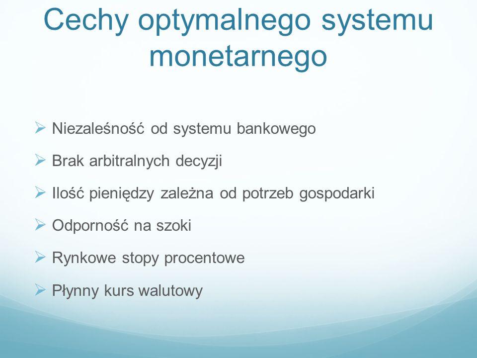 Cechy optymalnego systemu monetarnego