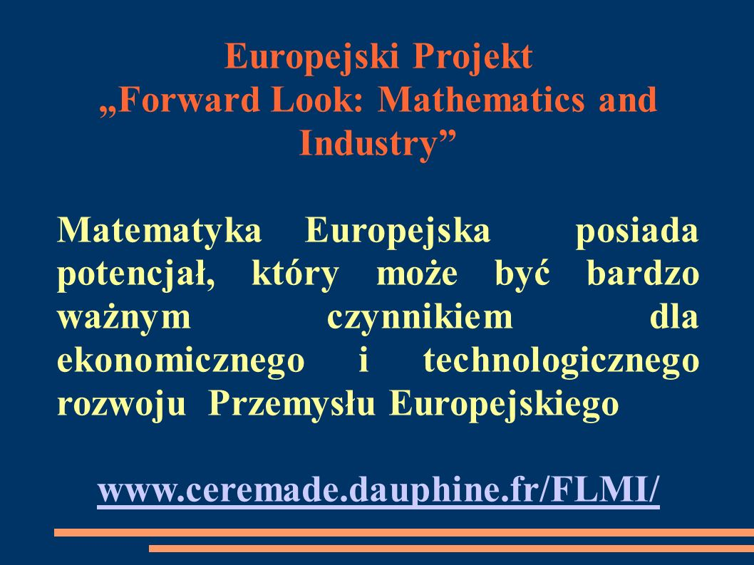 """Forward Look: Mathematics and Industry"