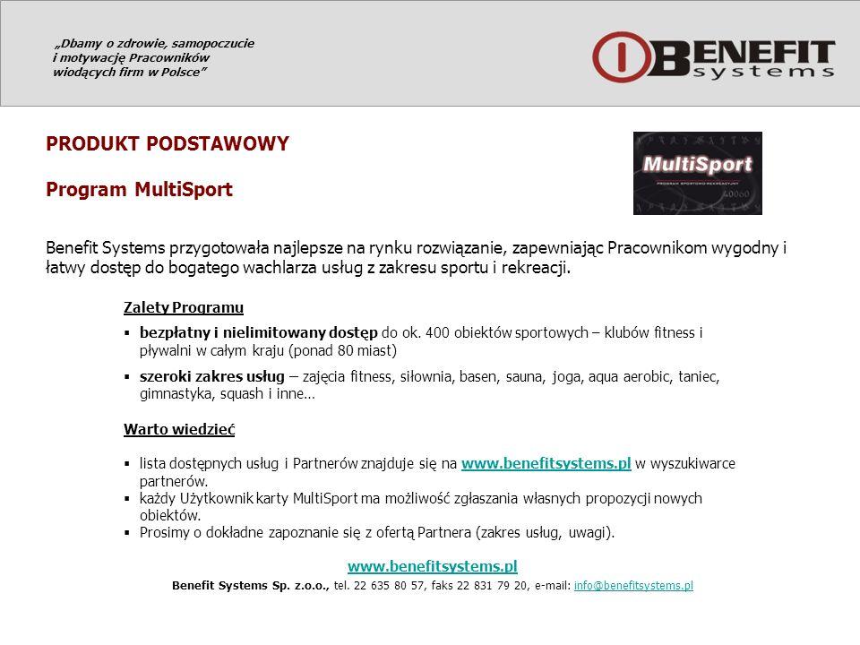 PRODUKT PODSTAWOWY Program MultiSport