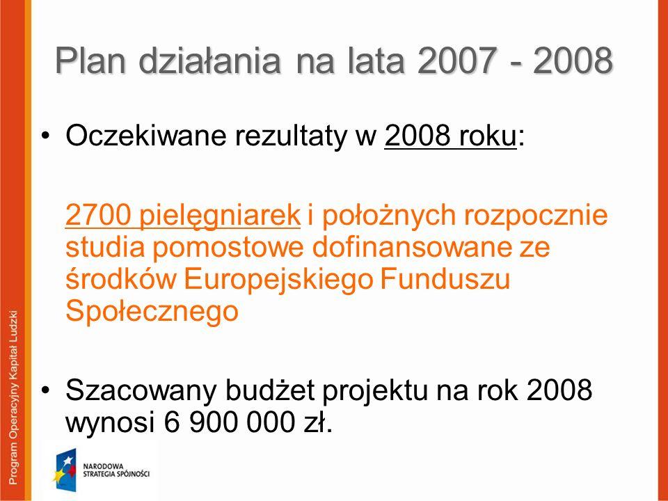 Plan działania na lata 2007 - 2008