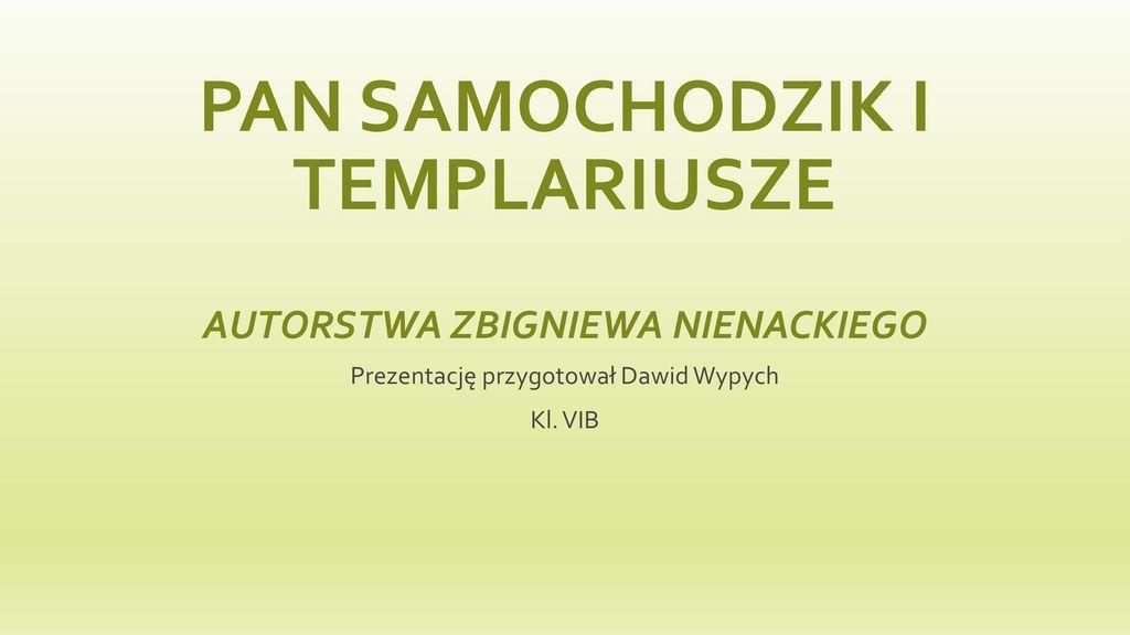 Pan Samochodzik i Templariusze autorstwa Zbigniewa Nienackiego