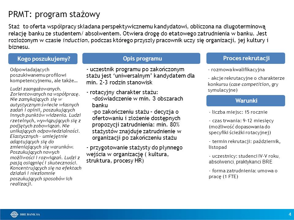PRMT: program stażowy