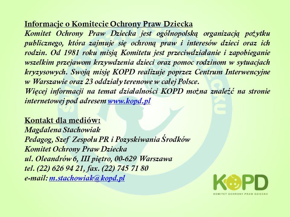 Informacje o Komitecie Ochrony Praw Dziecka
