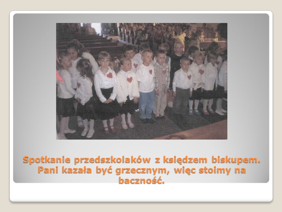 Spotkanie przedszkolaków z księdzem biskupem