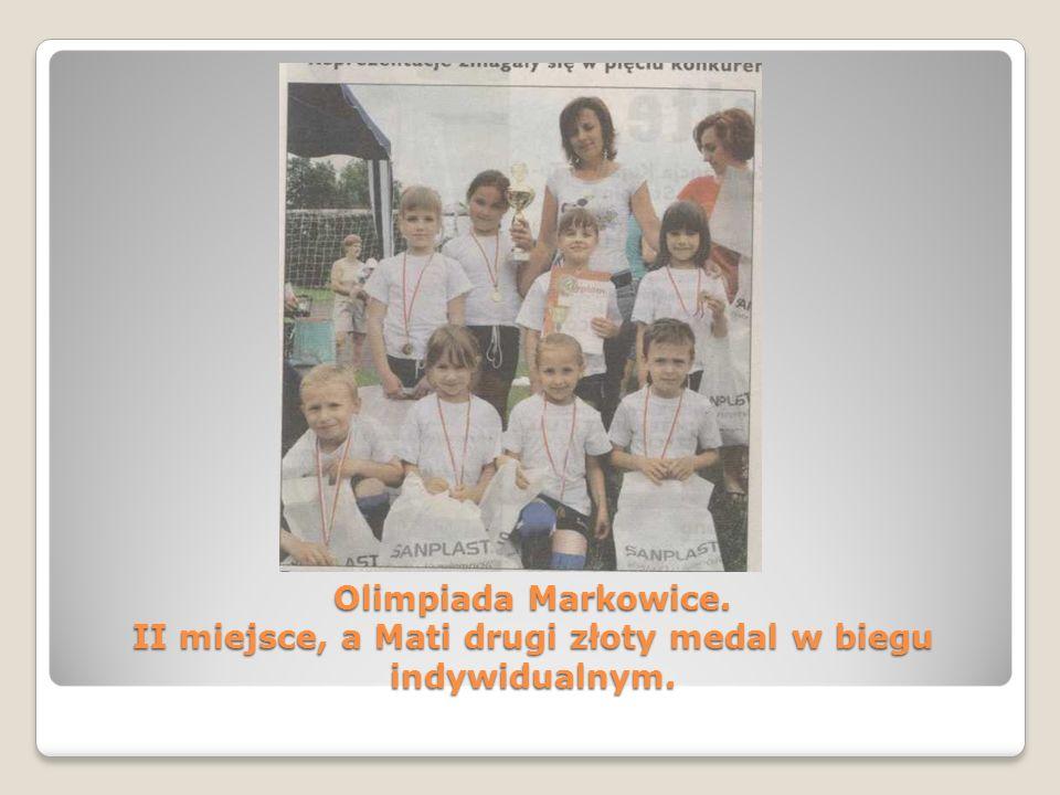 Olimpiada Markowice. II miejsce, a Mati drugi złoty medal w biegu indywidualnym.