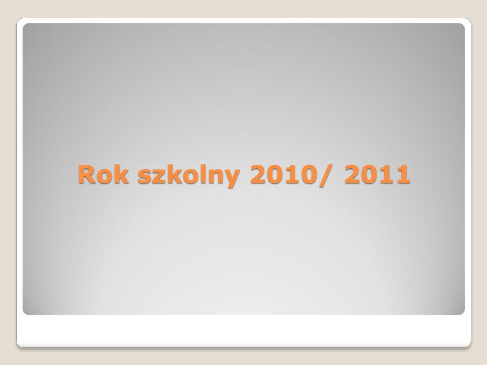 Rok szkolny 2010/ 2011
